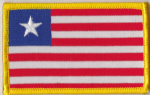 Liberia Embroidered Flag Patch, style 08.